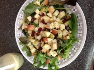 Apple and Pear salad with Lemon Poppyseed Dressing